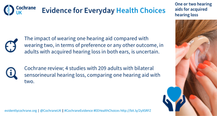 One or two hearing aids