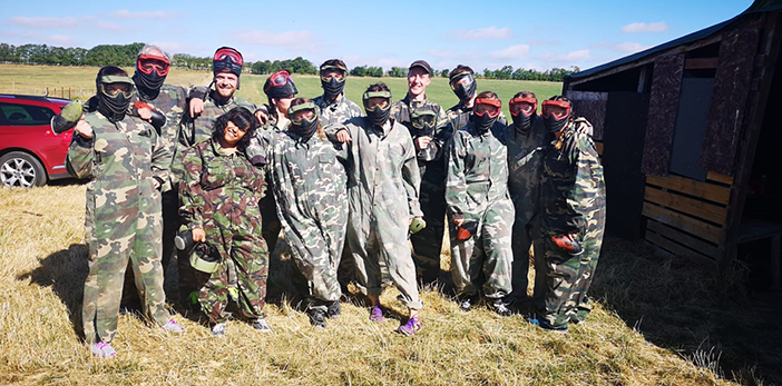QUOD team paintballing