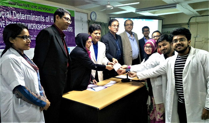 Top scoring team at the research workshop at Chittagong Medical College in Bangladesh